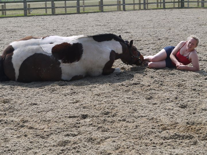 Daffy and Beccy having a rest