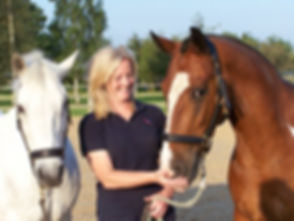 Beccy with herd members Daffy and Nelly.