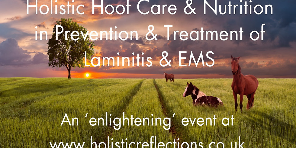 Holistic Hoof Care & Nutrition in Prevention & Treatment of Laminitis & EMS (July 6th)