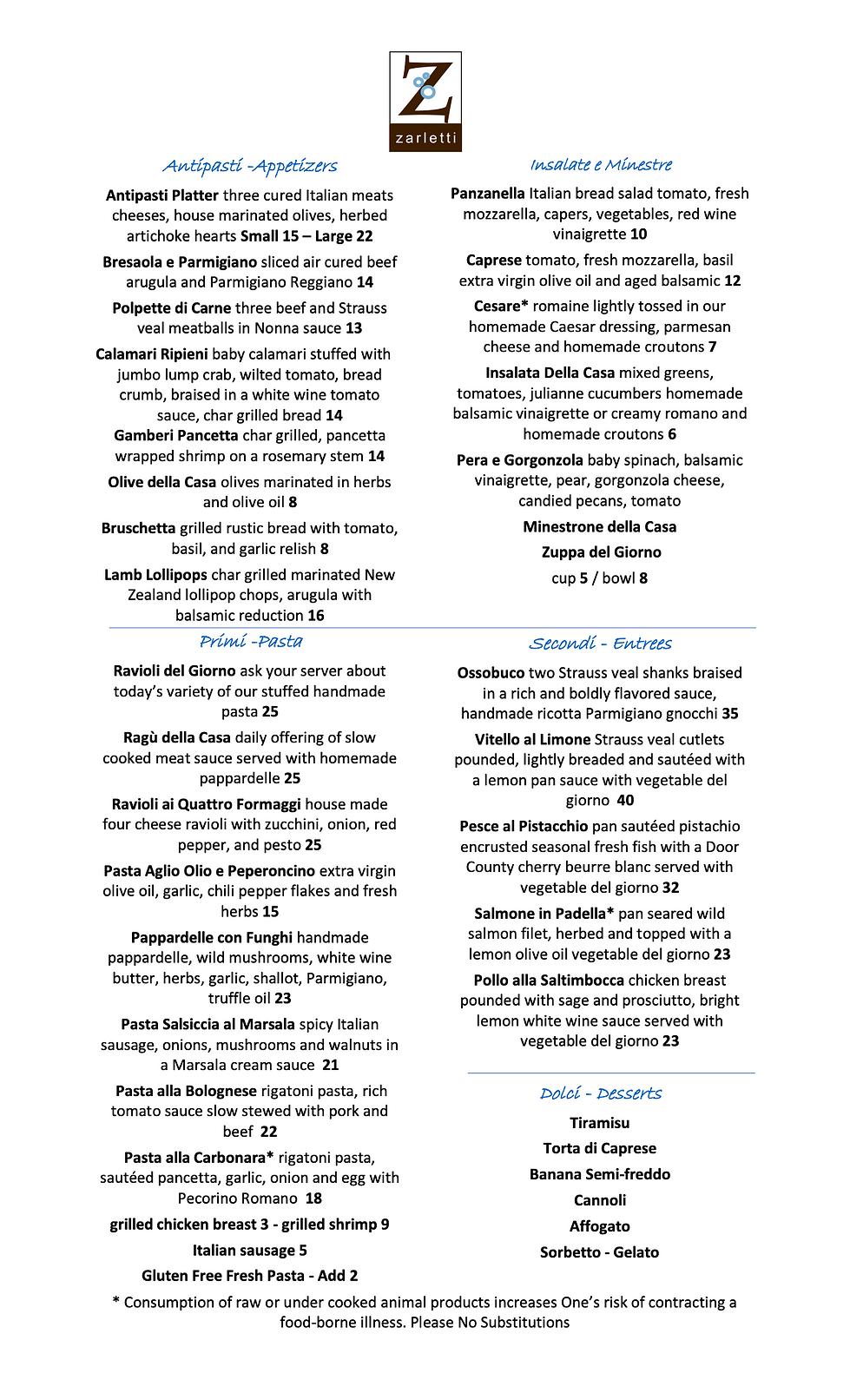 Zarletti Dinner Menu 8-31-2020 (dragged)