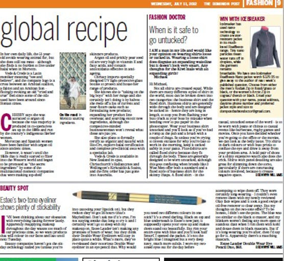 Dom Post article p2 Annotation 2019-12-0, vede & crede botanical skincare product, buy online Auckland, younger, radiant skin. Renew skin texture, resiliency, elasticity & firmness