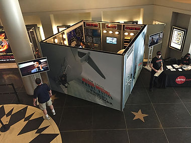 Overhead view of Mission Impossible Escape Room