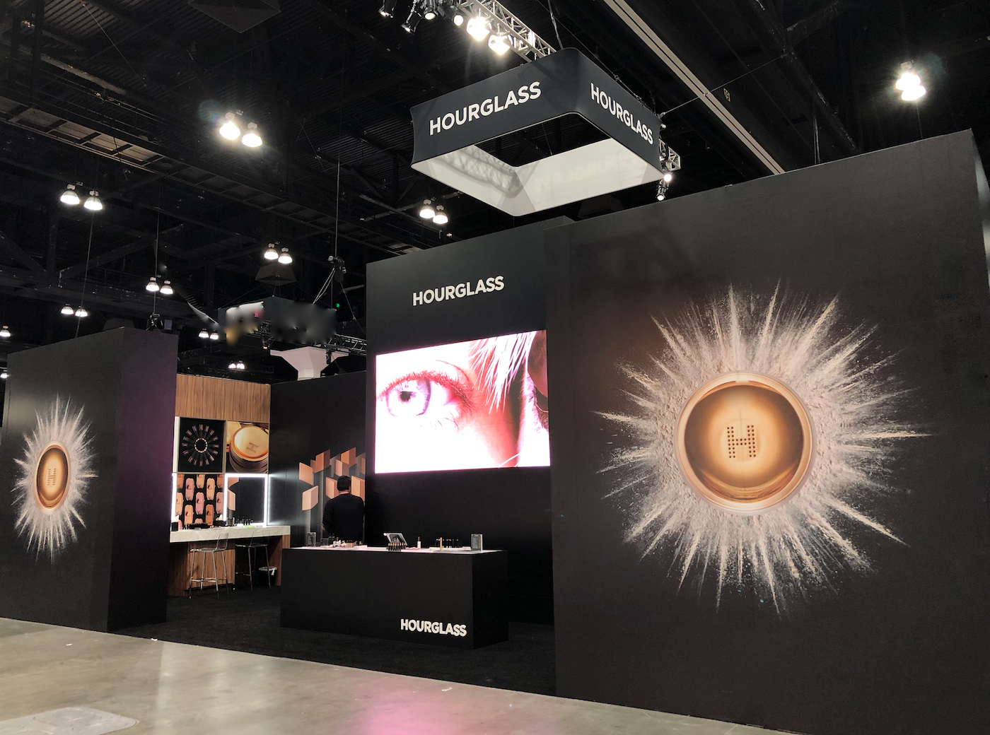 Hourglass booth at Beauty Con