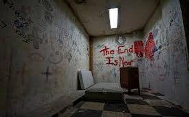 Creepy room at Escape the Asylum event for AHS