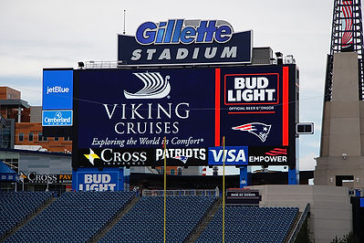 Viking Cruises on Gillette Stadium Scoreboard