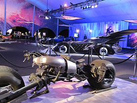Dark Knight Trilogy vehicles on exhibit
