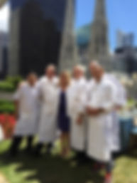 Cat Cora with her chefs at the Beauty & the Beast event NY