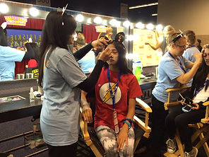Cat makeup at Friskies Booth Vidcon