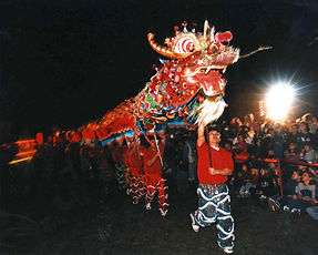 Dragon parade at Mulan event in China, Texas