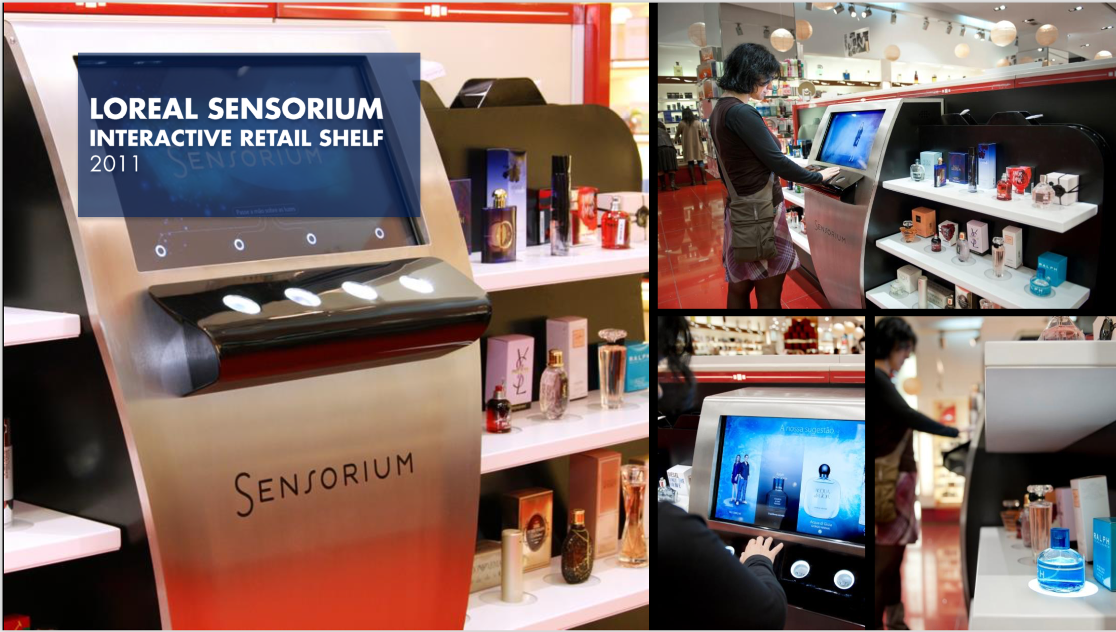 Loreal Sensorium Interactive Retail Shelf