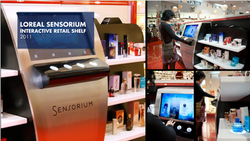 Loreal Sensorium Interactive Retail Shelf