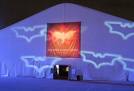 Dark Knight Trilogy Exhibit Tent Exterior