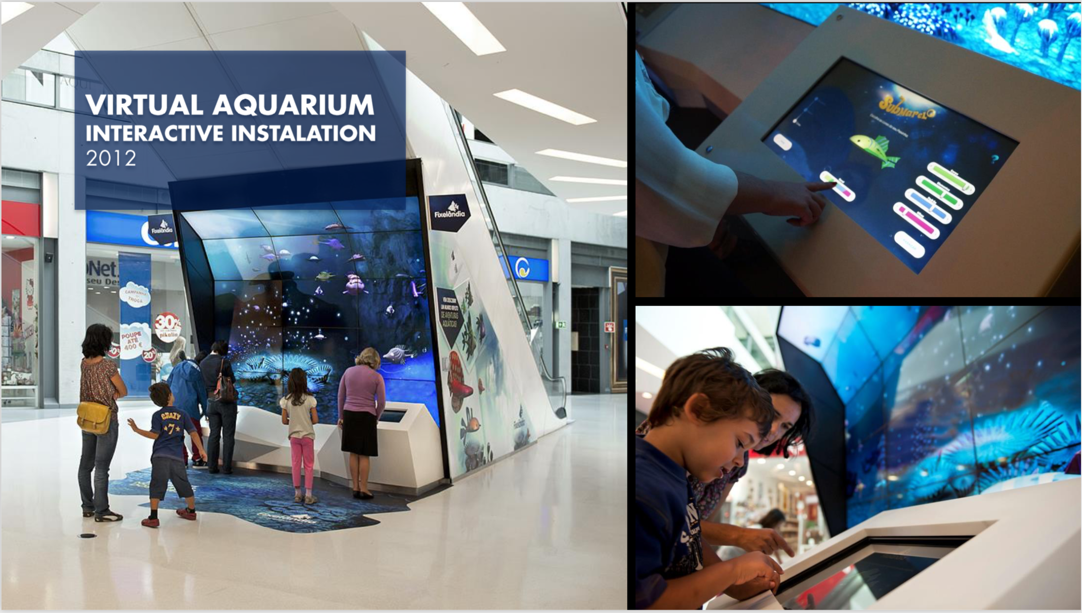 Virtual Aquarium Mall Activation