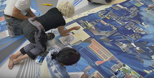 Painting 3D Artwork for IMAX The Walk Activation