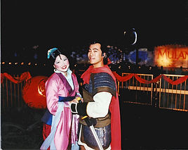 Mulan and Li Shang from Mulan event in China, Texas
