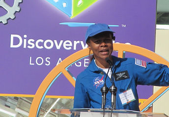 NASA astronaut at Discovery Cube Grand Opening event