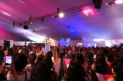 Michelle Phan and crowd ipsy LA