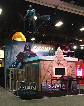 X-Men Tomb of Apocalypse Booth ComicCon
