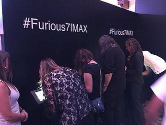Social Media posting at IMAX Furious 7 activation