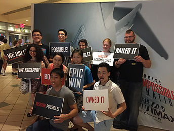 Winners of Mission Impossible Escape Room