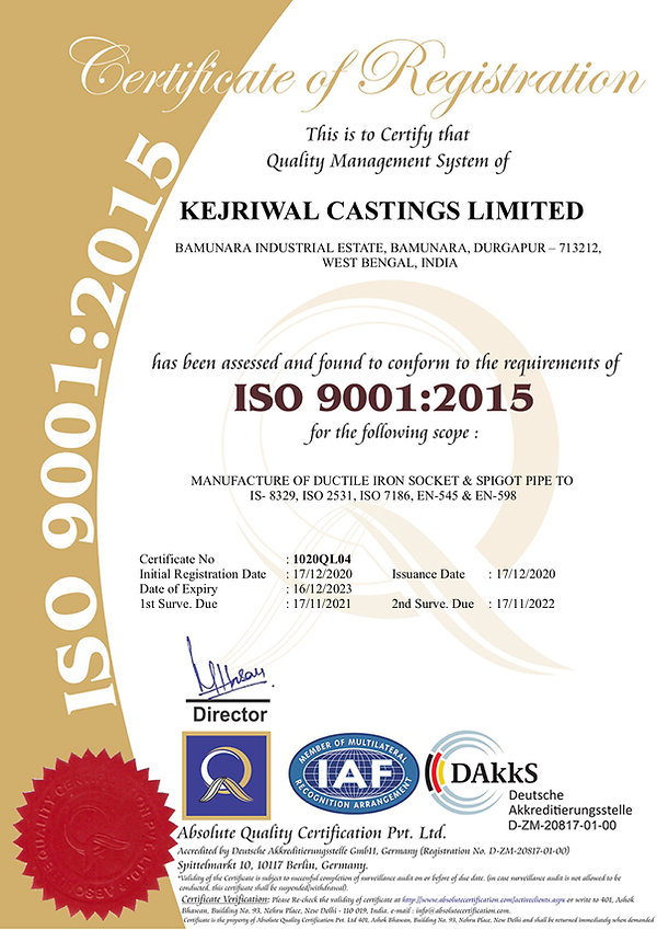 CERTIFICATEKEJRIWAL CASTINGS LIMITED.jpg