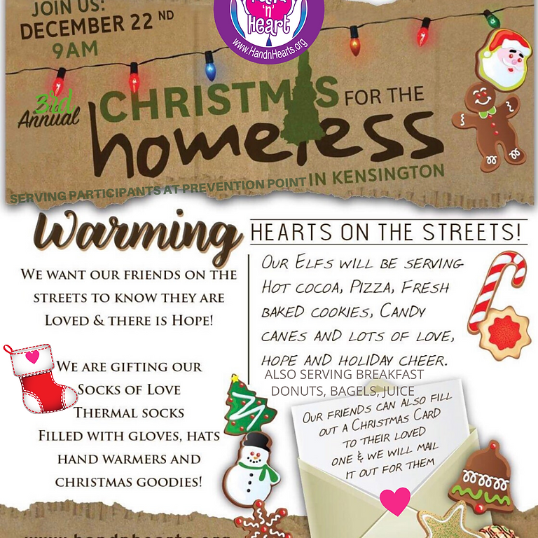 3rd Annual Christmas for the Homeless