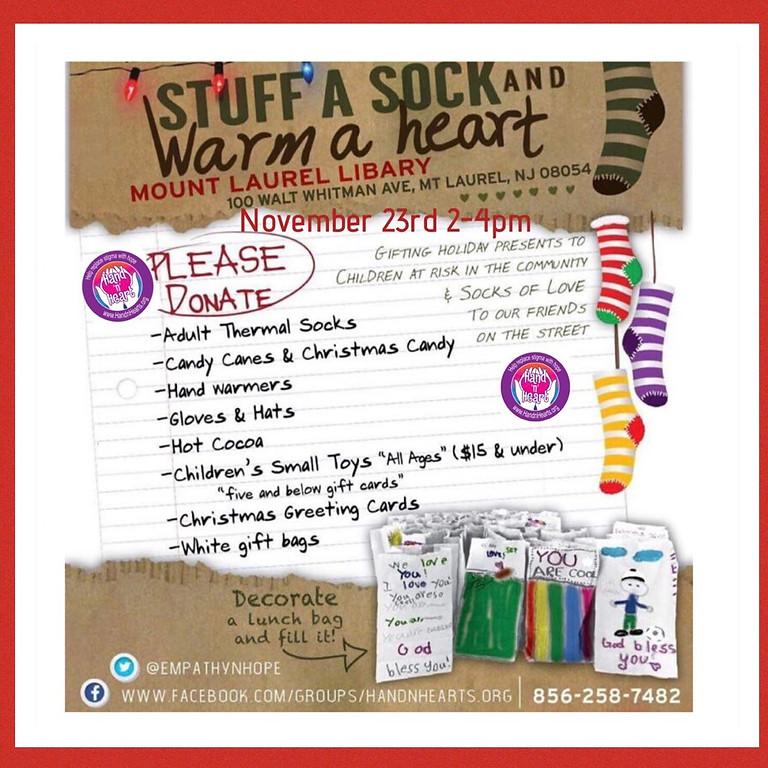 Stuff a sock, warm a heart!