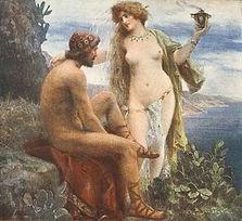 Calypso offrant la vie éternelle à Ulysse