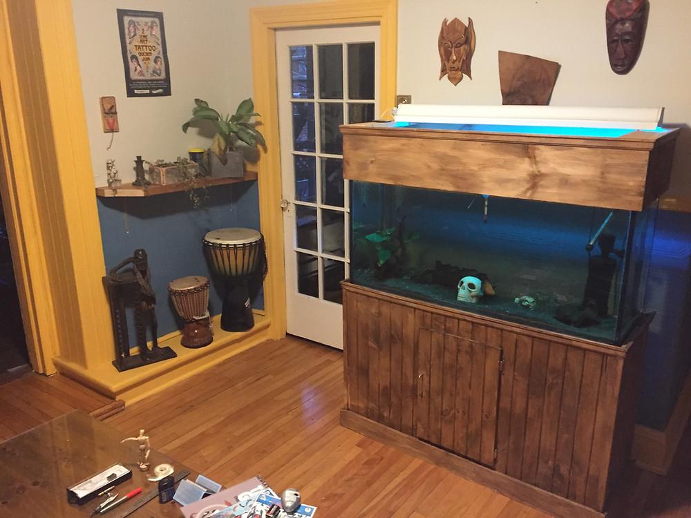 Aquarium et décoration tatouage Calypso
