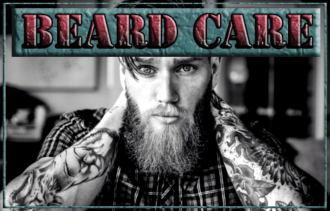 Beard care, oils, balms and soaps, man with beard