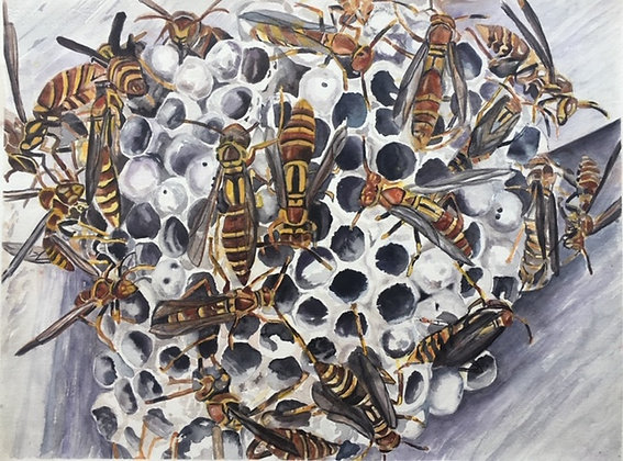 Busy Bees, mounted