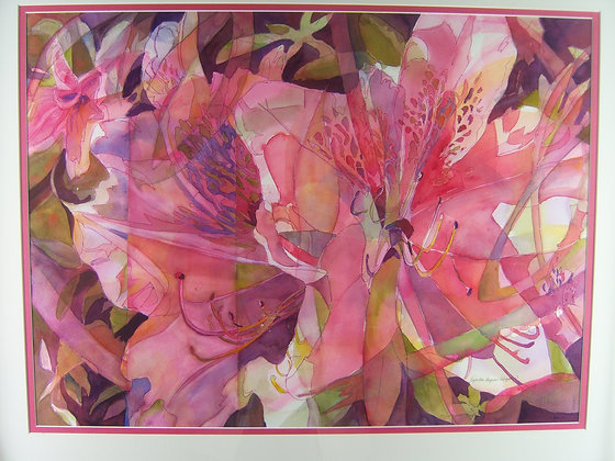 Abstract Azalea, framed
