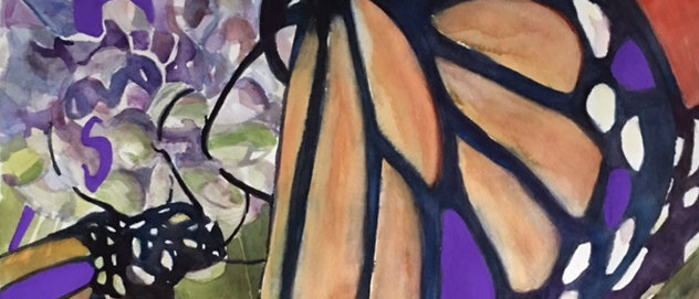 Monarch with Purple