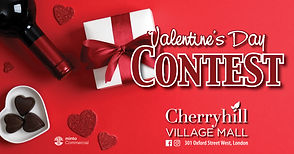 Promotional banner associated with Valentine's Day contest.