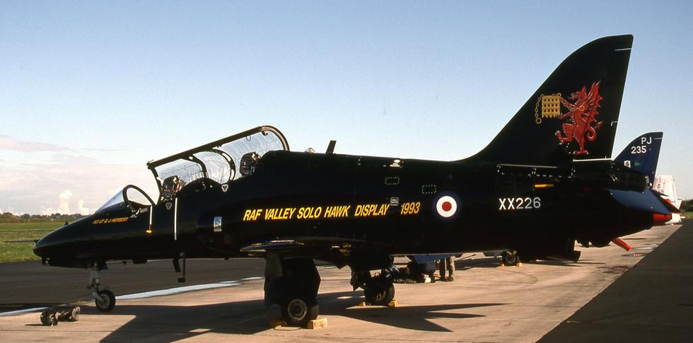 Hawk XX226 pictured in service in 1993