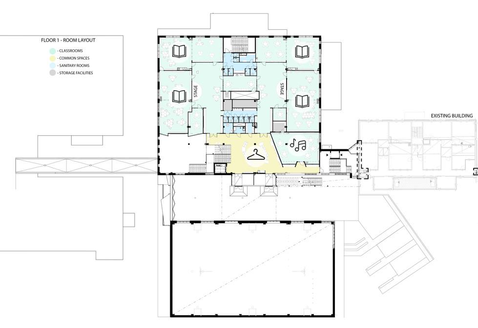 Floor 1 - room layout
