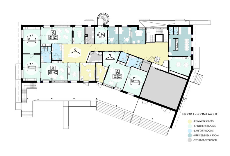 Floor 1 - room layout