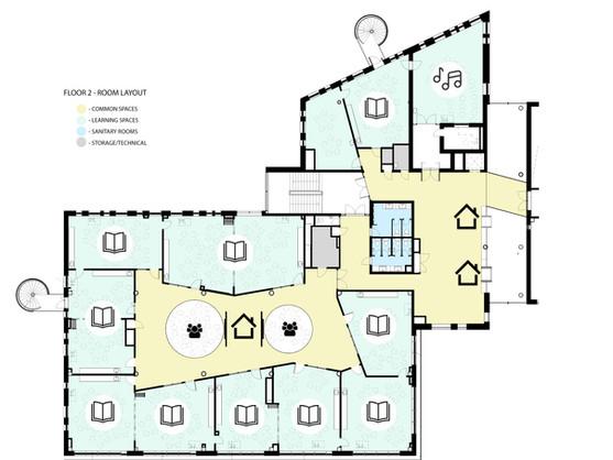 Floor 2 - room layout