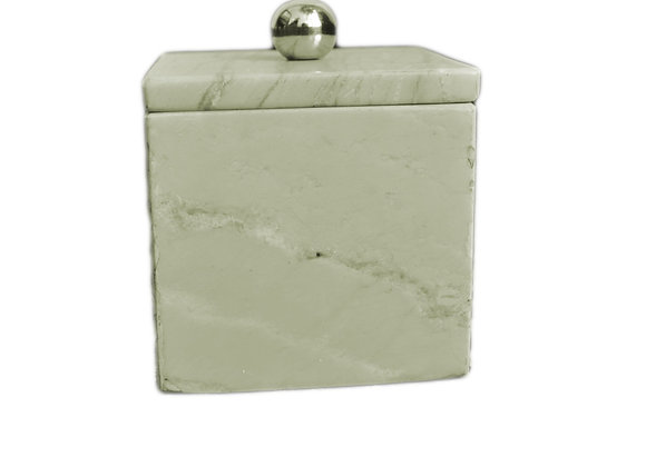 ST. PIERRE MARBLE CANISTER/COTTON DISH
