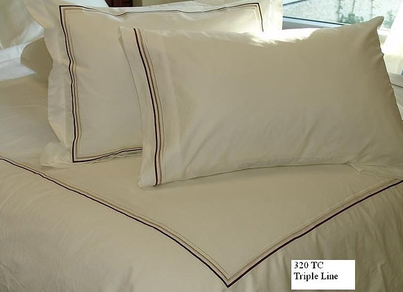 ST. PIERRE TRIPPLE LINE COTTON DUVET COVER SET
