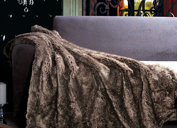 ST. PIERRE RUSSIAN SABLE FAUX FUR THROW