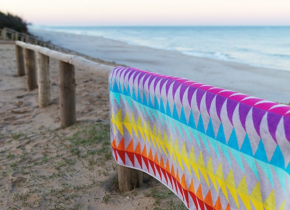 GRACCIOZA BLOCK BEACH TOWEL MADE IN PORTUGAL