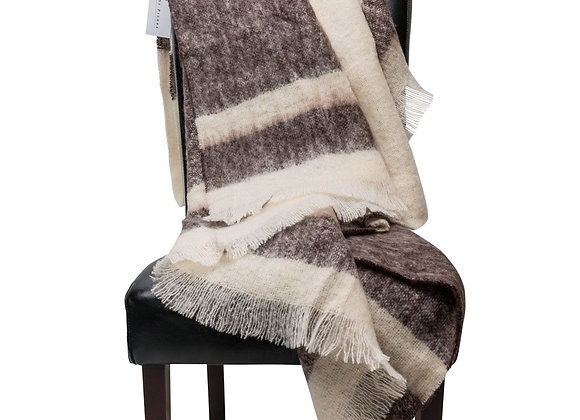 ST. PIERRE KOFFIE MOHAIR THROW