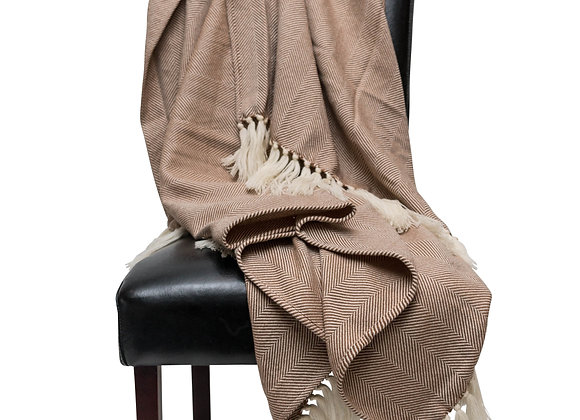 ST. PIERRE GRAAN MERINO WOOL/MOHAIR THROW