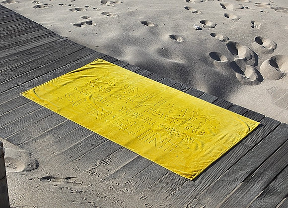GRACCIOZA SUNSHINE BEACH TOWEL MADE IN PORTUGAL