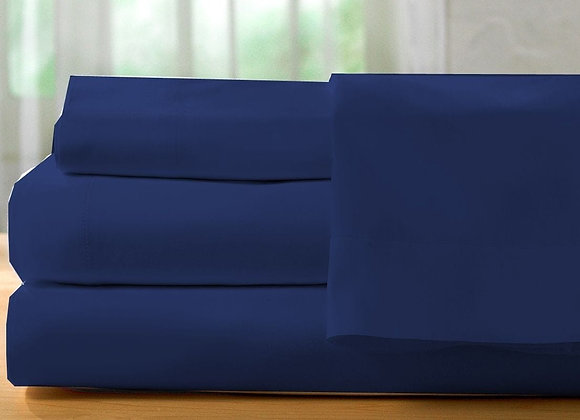 ST. PIERRE 400 TC SHEET SET NAVY BLUE