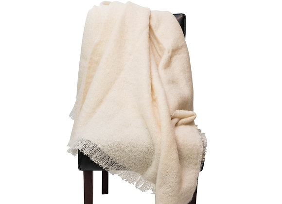 ST. PIERRE SWAN MOHAIR THROW