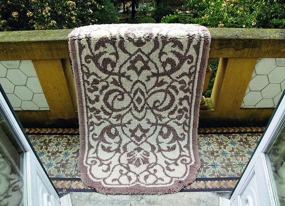 GRACCIOZA DAMASK BATH MAT