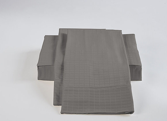 ST. PIERRE 60% BAMBOO/40% COTTON SHEET SET SILVER