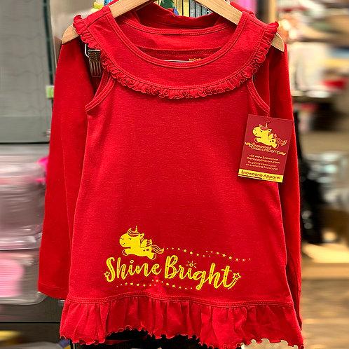 Snowcone Shine Bright Red Ruffled Dress